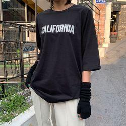 2630 캘리포니아 롱 하프 티셔츠 (4color)