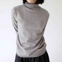 minimal turtleneck soft knit (5colors)