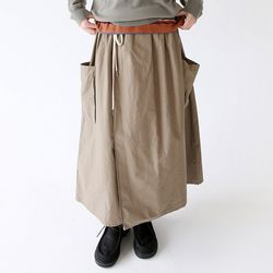 wrap pocket detail skirts (khaki)