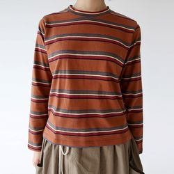 vintage colors stripe tee (3colors)