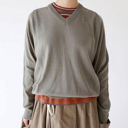 v neck wool knit (3colors)