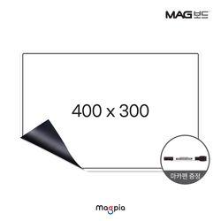 고무자석 화이트보드 W400XL300 냉장고보드 자석칠판