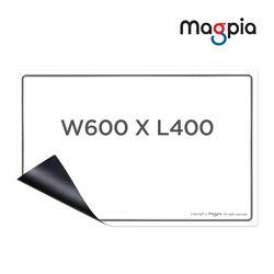 고무자석 화이트보드 W600XL400 냉장고보드 자석칠판