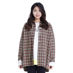 (UNISEX) MMM Long Over Check Shirts (LGREEN)