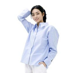 SODE-M Oxford : Long-collar Shirt (SKY BLUE)