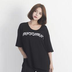 Back Lovely M Short Sleeve T-Shirt (BLACK)