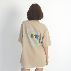 (UNISEX) Summer Diver Short Sleeve T-Shirt (BEIGE)