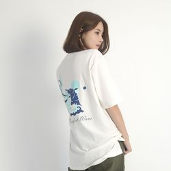 (UNISEX) Perfect wave Short sleeve T-Shirt (WHITE)