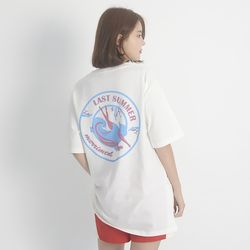 (UNISEX) Last summer Short Sleeve T-Shirt (WHITE)