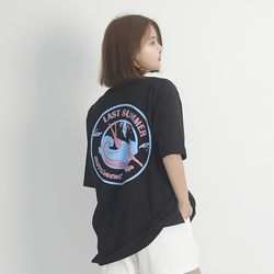 (UNISEX) Last summer Short Sleeve T-Shirt (BLACK)