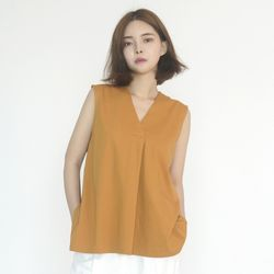 Chiffon Sleeveless Blouse (YELLOW)