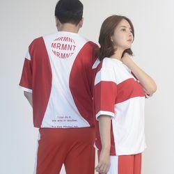 (UNISEX) MRMNT Block Short Sleeve T-shirt (RED)