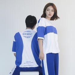 (UNISEX) MRMNT Block Short Sleeve T-shirt (BLUE)