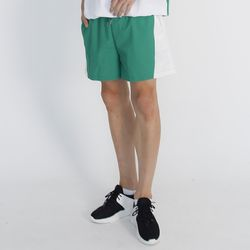 (UNISEX) MRMNT Color Track Shorts (GREEN)