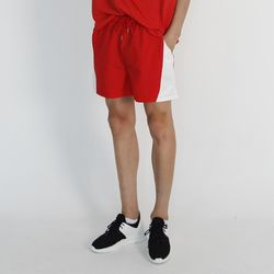 (UNISEX) MRMNT Color Track Shorts (RED)