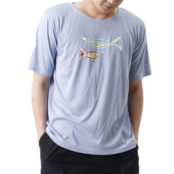 Grand Casting the Fish Short Sleeve T (SKY BLUE)