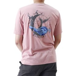 (UNISEX) Waves by Whales Short Sleeve T (PINK)
