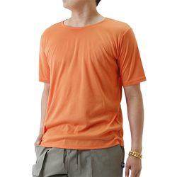 (UNISEX) Basic Color Short Sleeve T (ORANGE)