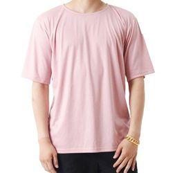 (UNISEX) Basic Color Short Sleeve T (PINK)