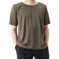 (UNISEX) Basic Color Short Sleeve T (KHAKI)