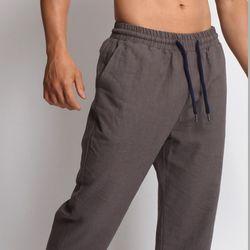 그린바나나 brown grey linen