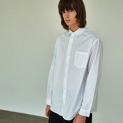 (UNISEX) 베이식 칼라 루즈핏 데일리 셔츠 아이보리