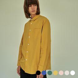 (UNISEX) 베이식 칼라 루즈핏 데일리 셔츠 7COLOR