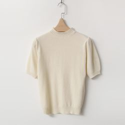 Cashmere Wool Mini Turtleneck - 반팔