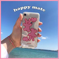 happy mate (clear) 아이폰케이스