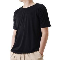 (UNISEX) Basic Color Short Sleeve T (BLACK)