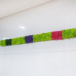 편백 스칸디아모스 포인트벽지 - 손쉬운 블럭형 DIY (중) X 5개