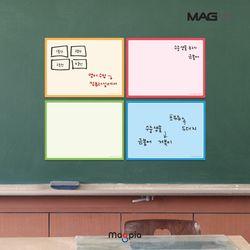 고무자석 칼라보드 W400XL300 메모보드 자석보드