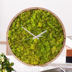 원목 스칸디아모스 벽시계(30cm)-스프링그린