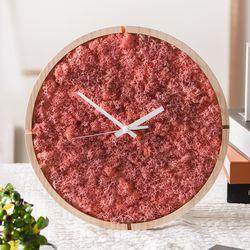 원목 스칸디아모스 벽시계(30cm)-핑크