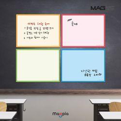 고무자석 칼라보드 W600XL400 메모보드 자석보드
