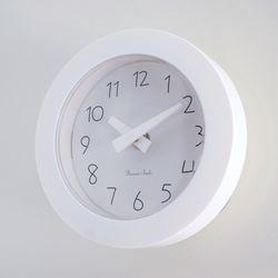 파스텔 이중흡착 욕실시계 (화이트)