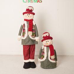 체크키다리 눈사람 80cm 트리 크리스마스 인형 TRDOLC