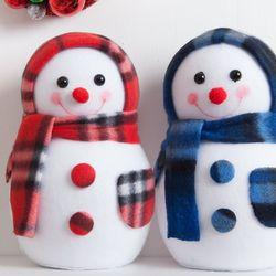 플래드 눈사람 20cm 트리 크리스마스 인형 TRDOLC
