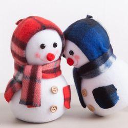 플래드 눈사람 14cm 트리 크리스마스 인형 TRDOLC