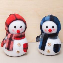 플래드 눈사람 12cm 트리 크리스마스 인형 TRDOLC