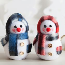 플래드 눈사람 9cm 트리 크리스마스 인형 TRDOLC