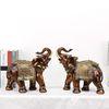 골드브라운 코끼리장식품 OEL002BR 특대 2P SET 인테리어소품