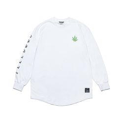 LEAF LAYERED LONG SLEEVES T-SHIRTS WHITE