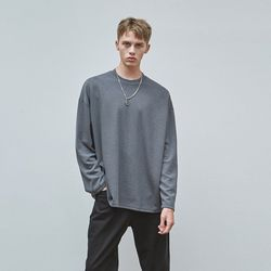 MILD OVER KNIT T-SHIRTS CHARCOAL