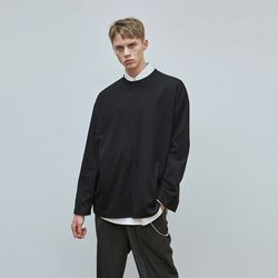 MILD OVER KNIT T-SHIRTS BLACK