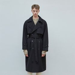MINIMAL TRENCH COAT BLACK