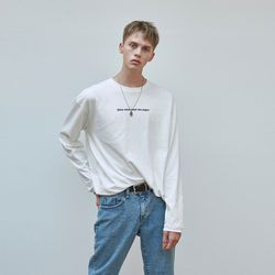 LETTERING OVERFIT T-SHIRTS IVORY