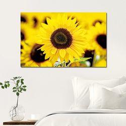 캔버스액자 해바라기 노란꽃 A타입 25x25cm