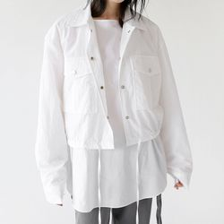 crispy light crop jacket (2colors)