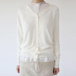 basic v neck cardigan (2colors)